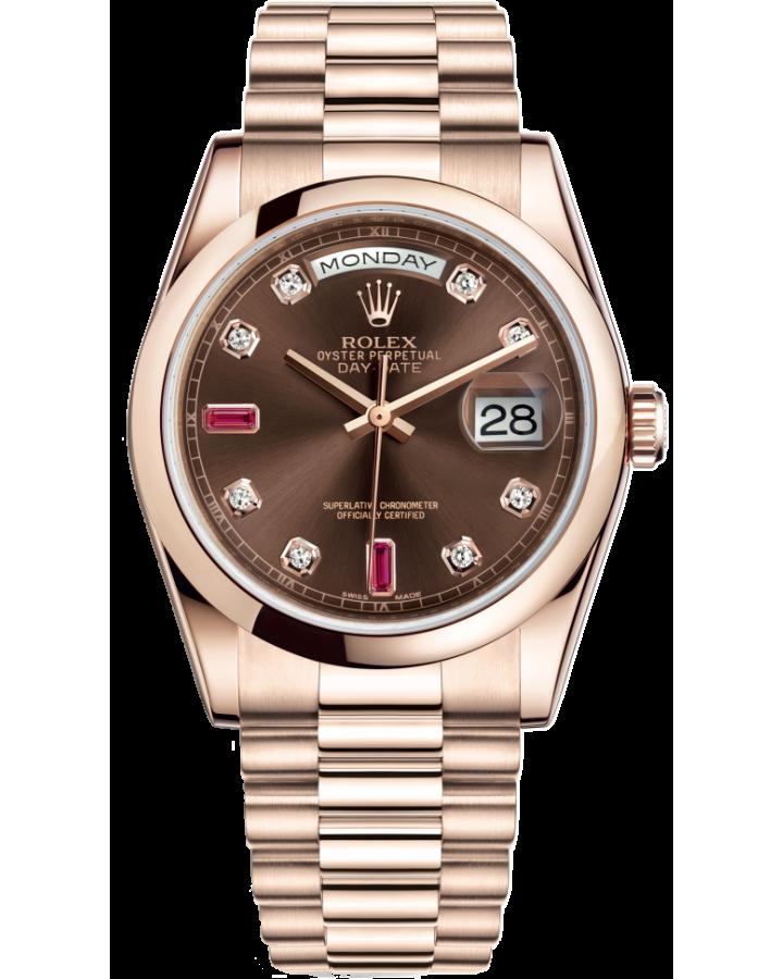 Часы Rolex Day-Date 36mm Everose Gold 118205-0104