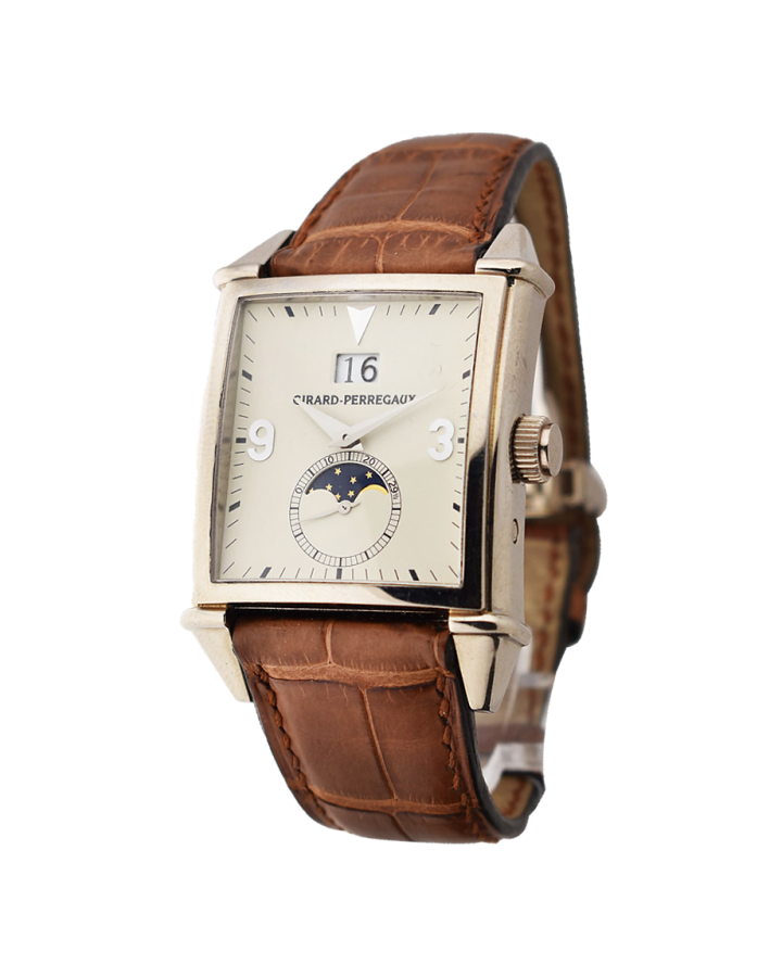 Часы Girard Perregaux Vintage 1945 King Size Large Date Moon Phases 25800 53 851 BA6A