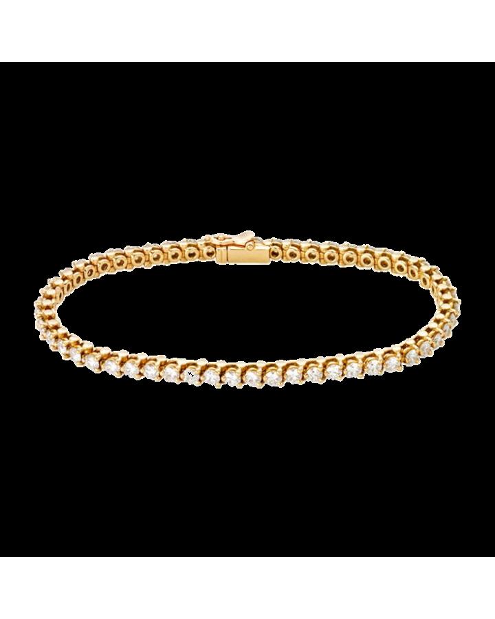 Браслет Cartier Diamond Gold Tennis Bracelet
