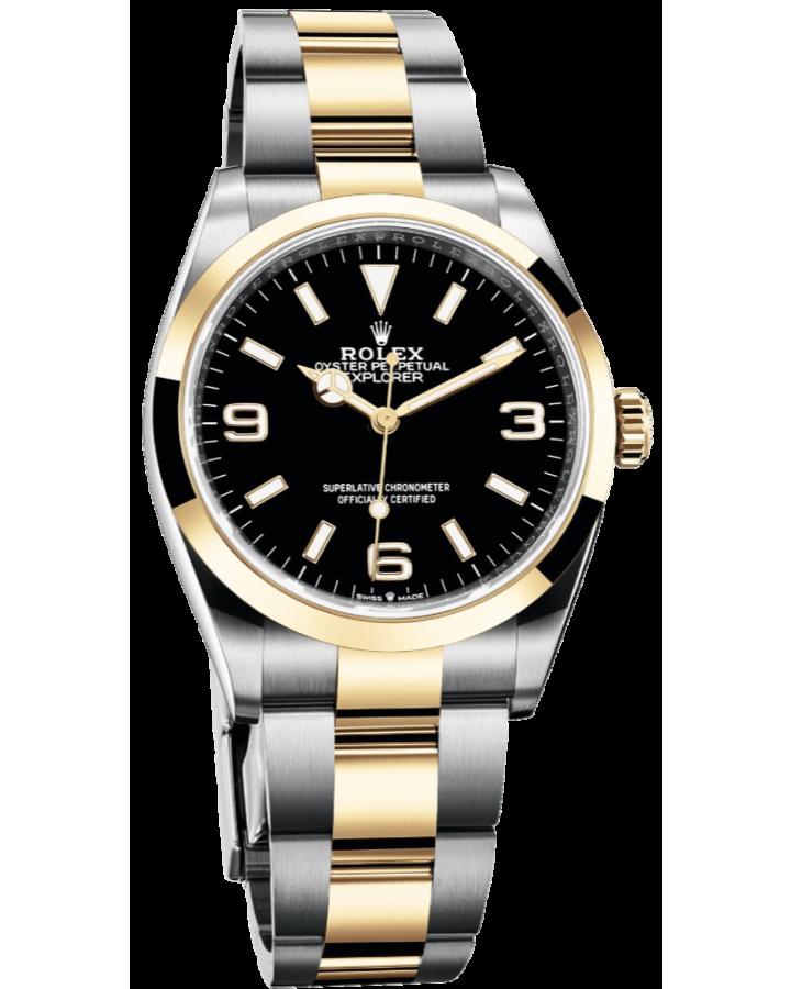 Часы Rolex Explorer 36 mm Steel and Yellow Gold124273-0001