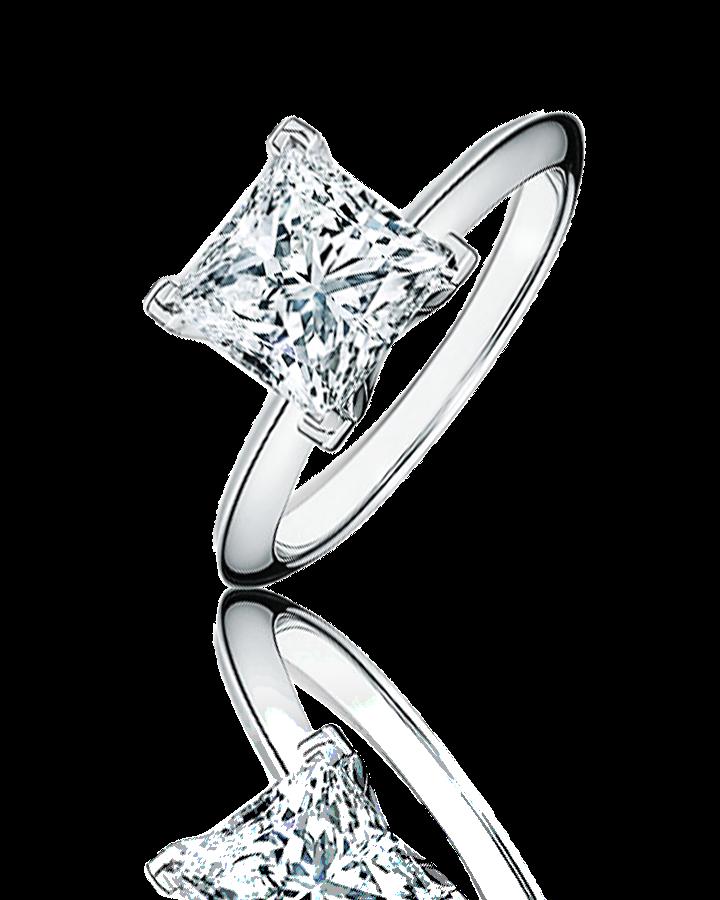 Кольцо Tiffany&Co  из платины 2 51 ct G VS1