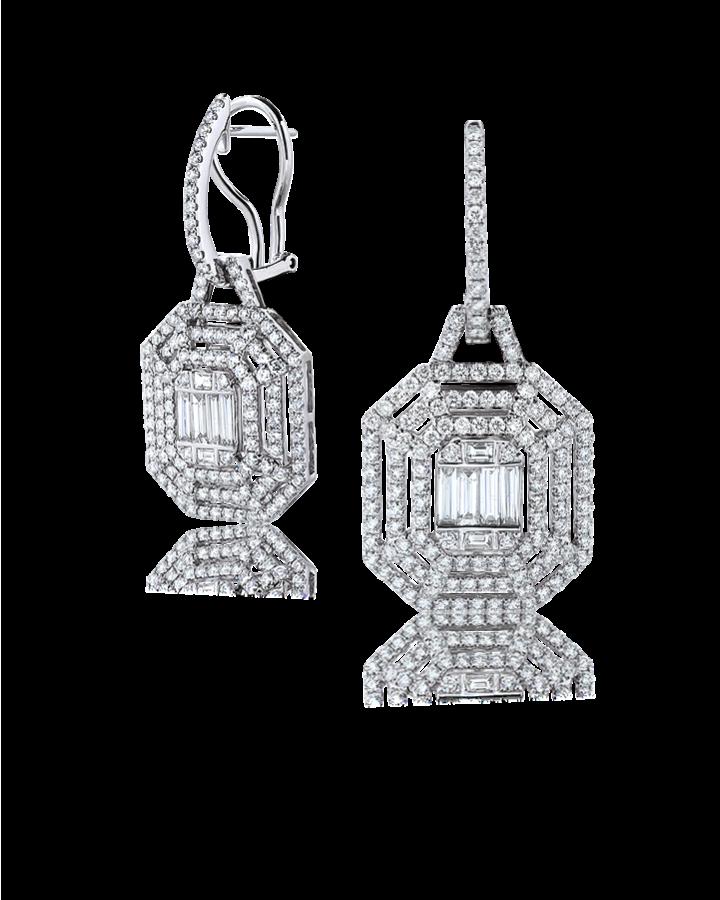 Серьги RALFDIAMONDS  с бриллиантами.