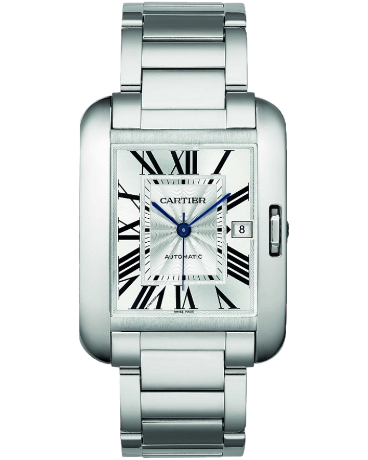 Часы Cartier Tank Anglaise Automatic Silver Dial Stainless Steel Men s Watch W5310009