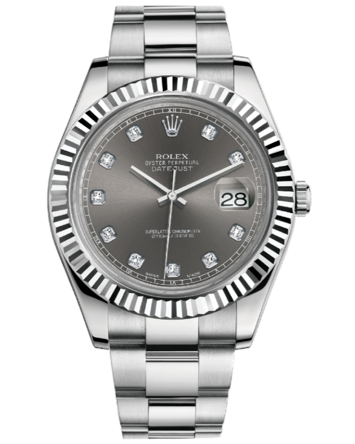Часы Rolex Datejust II 41mm Steel and White Gold116334