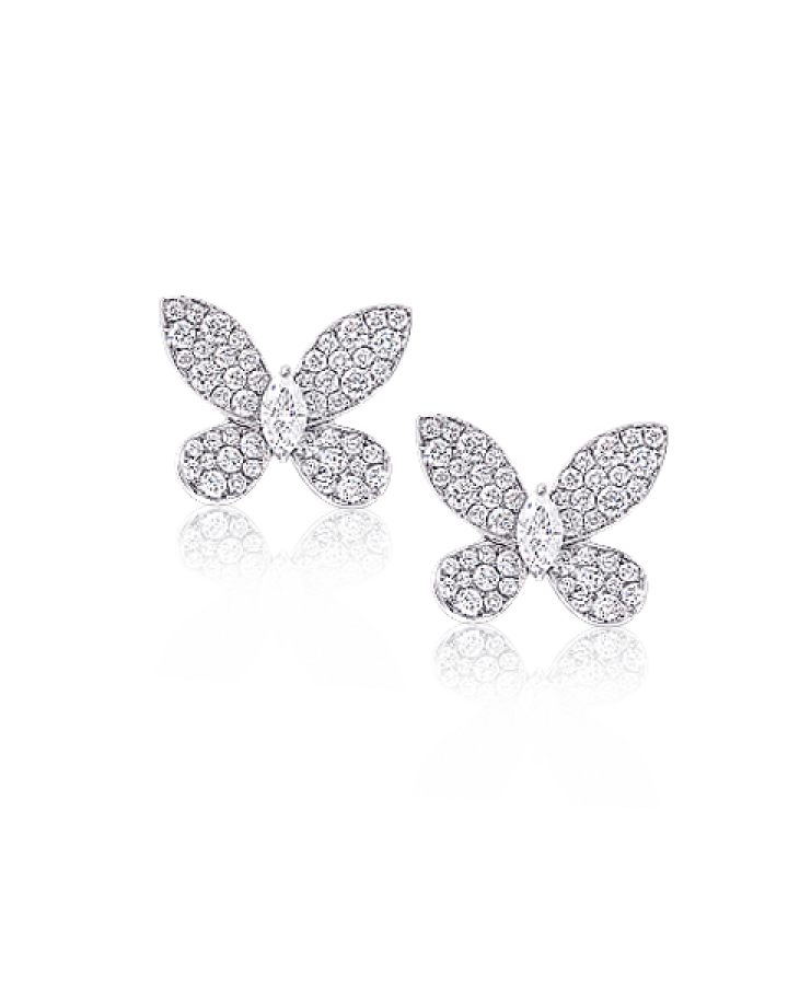 Серьги Graff DIAMOND PAVE BUTTERFLY EARRINGS