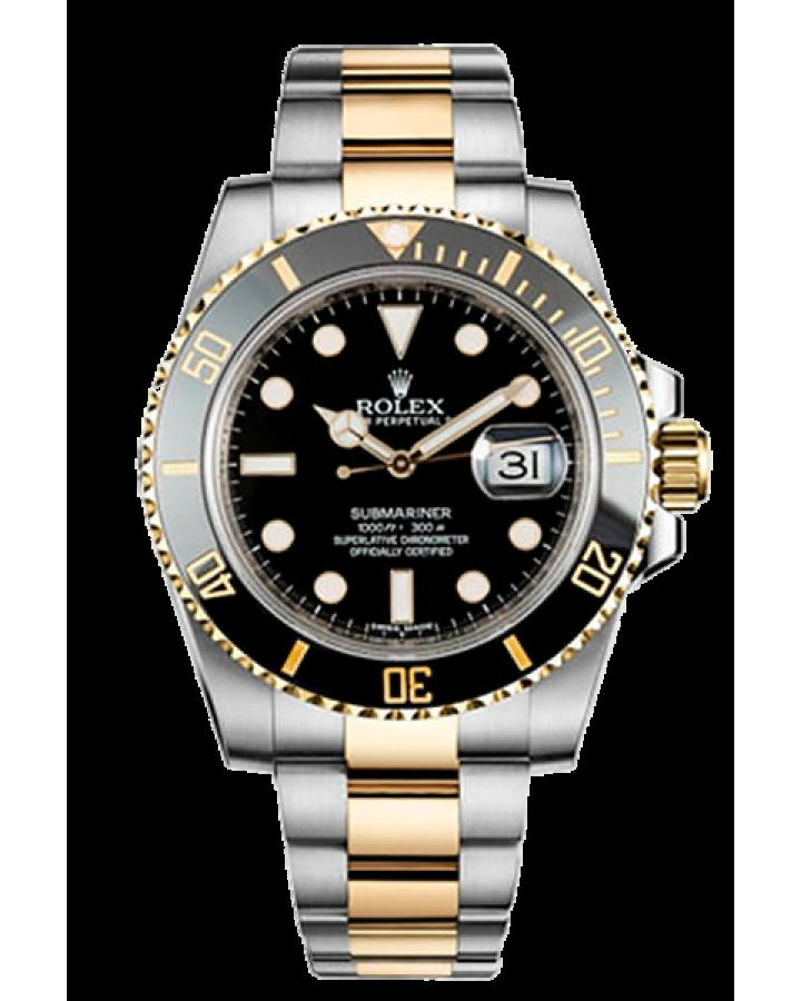 Часы Rolex SUBMARINER DATE 40MM STEEL AND YELLOW GOLD CERAMIC