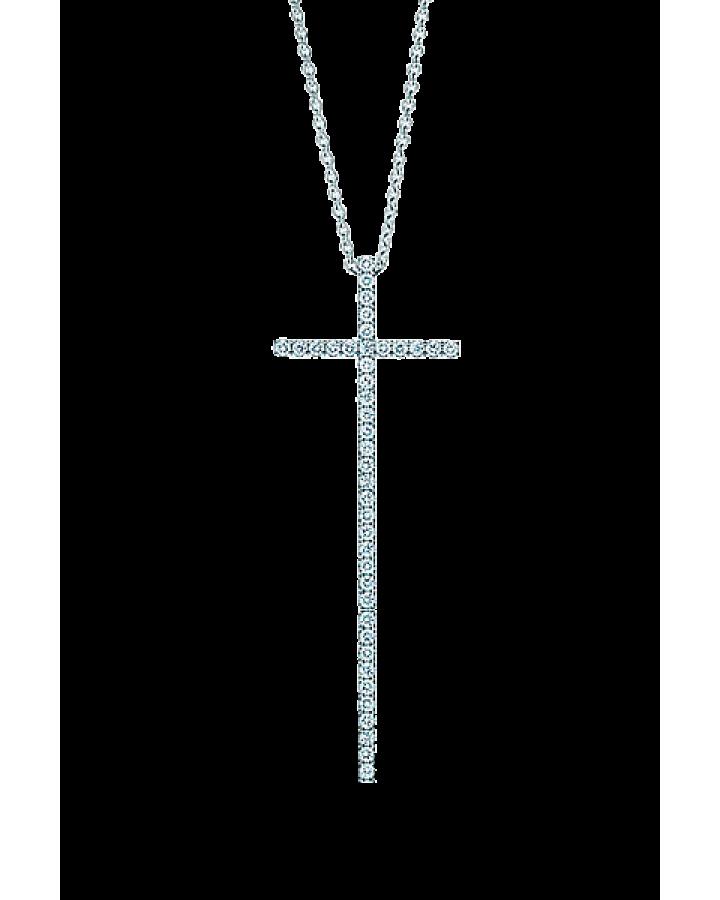 Крест Tiffany&Co  с бриллиантами большая модель