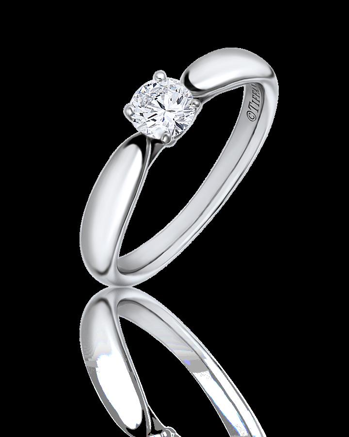 Кольцо с бриллиантом Tiffany&Co  0 30 CT I VS1