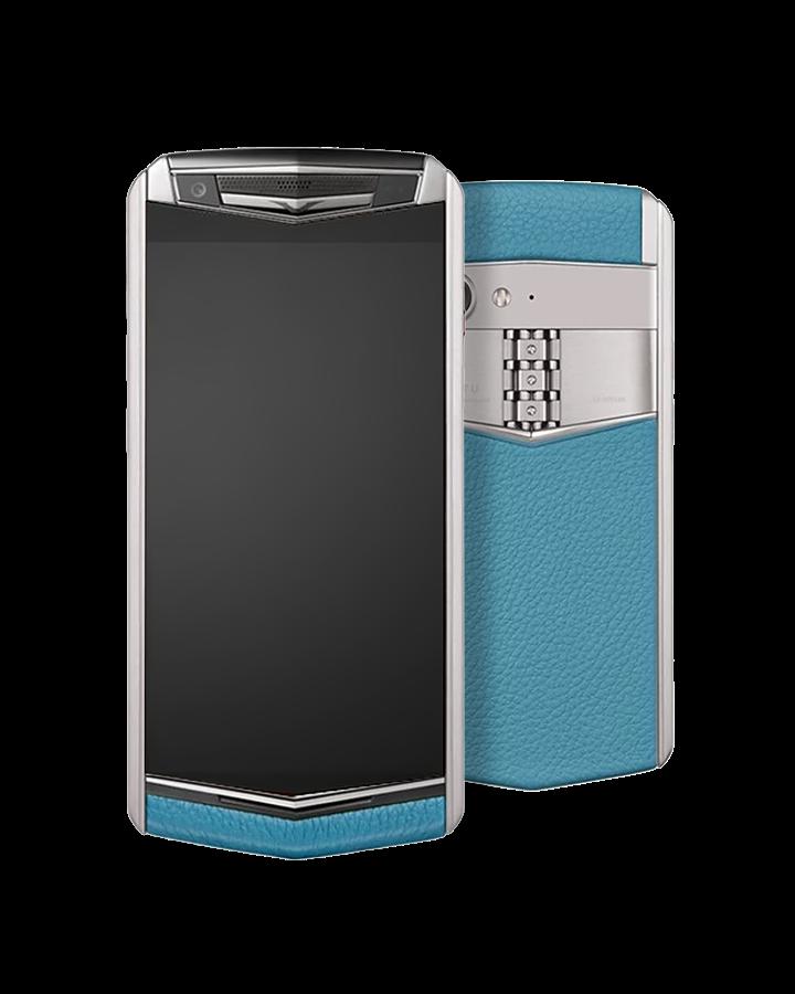 Телефон Vertu ASTER P Ti Silver Calf Gentleman Blue