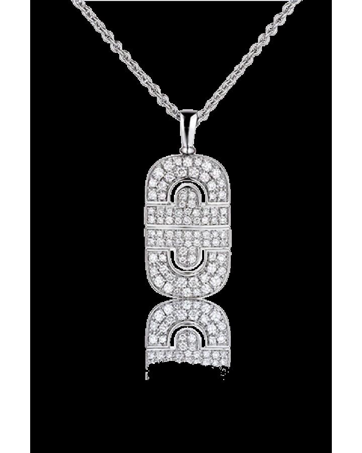 Подвеска BVLGARI Parentesi White Gold & Diamond