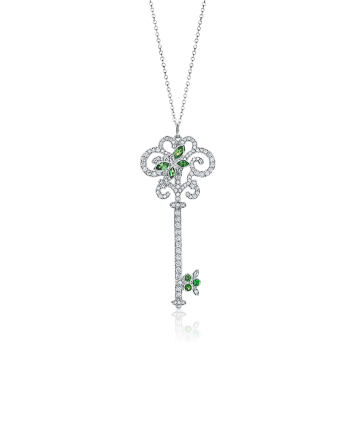 Подвеска Tiffany&Co Tiffany Keys ключ с очаровательной стрекозой