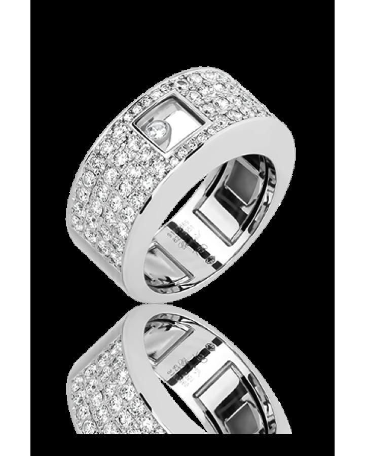 Кольцо с бриллиантом Chopard HAPPY DIAMONDS
