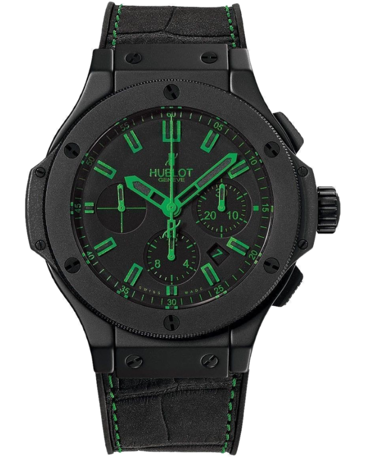 Часы Hublot Big Bang 44 mm All Black Green