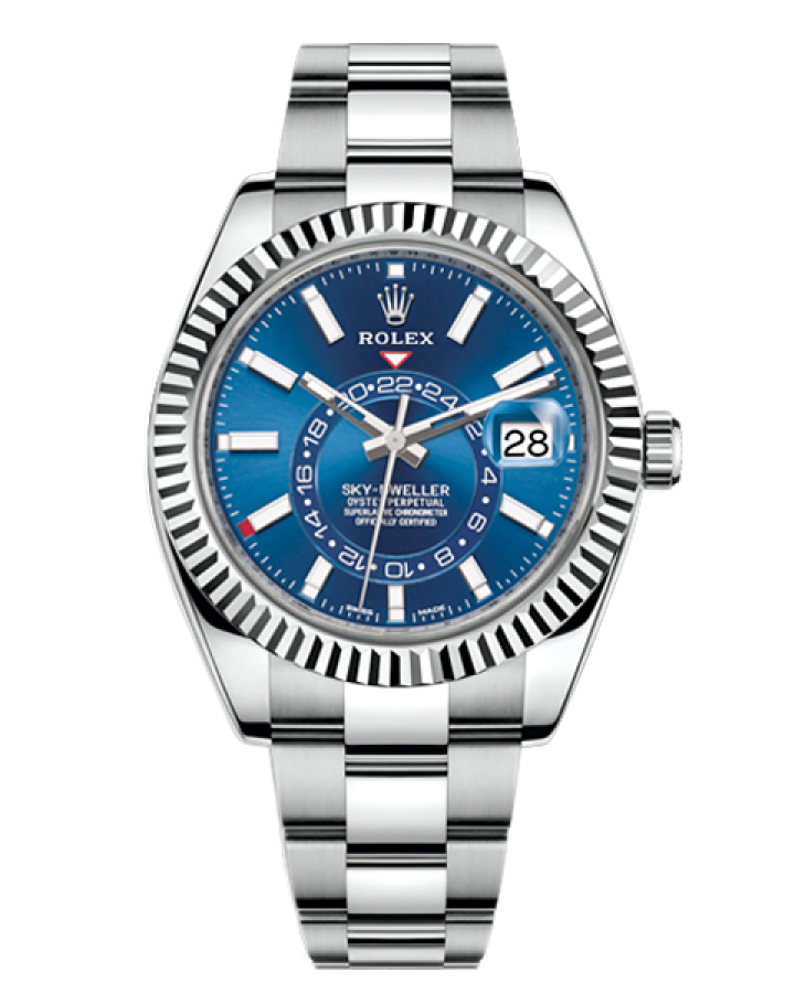 Часы Rolex SKY DWELLER 42MM STEEL AND WHITE GOLD