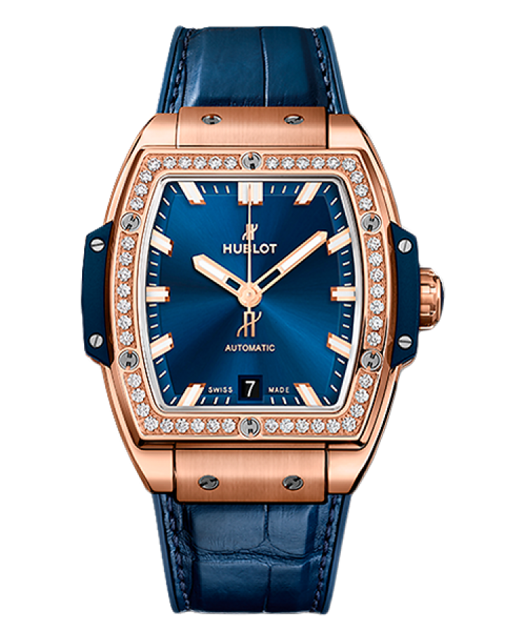Часы Hublot —SPIRIT OF BIG BANG KING GOLD BLUE DIAMONDS 39 mm