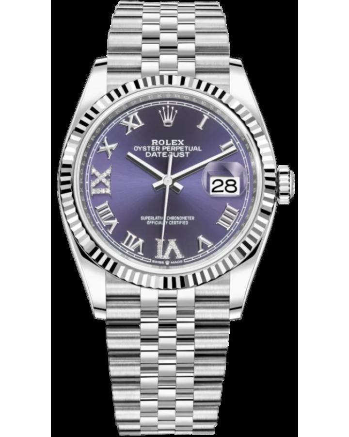 Часы Rolex Datejust 36mm Steel and White Gold 126234-0021
