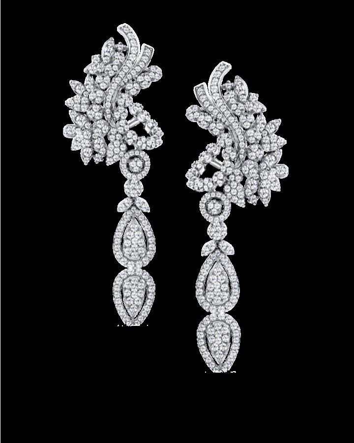 Серьги De Beers  с бриллиантами классической огранки