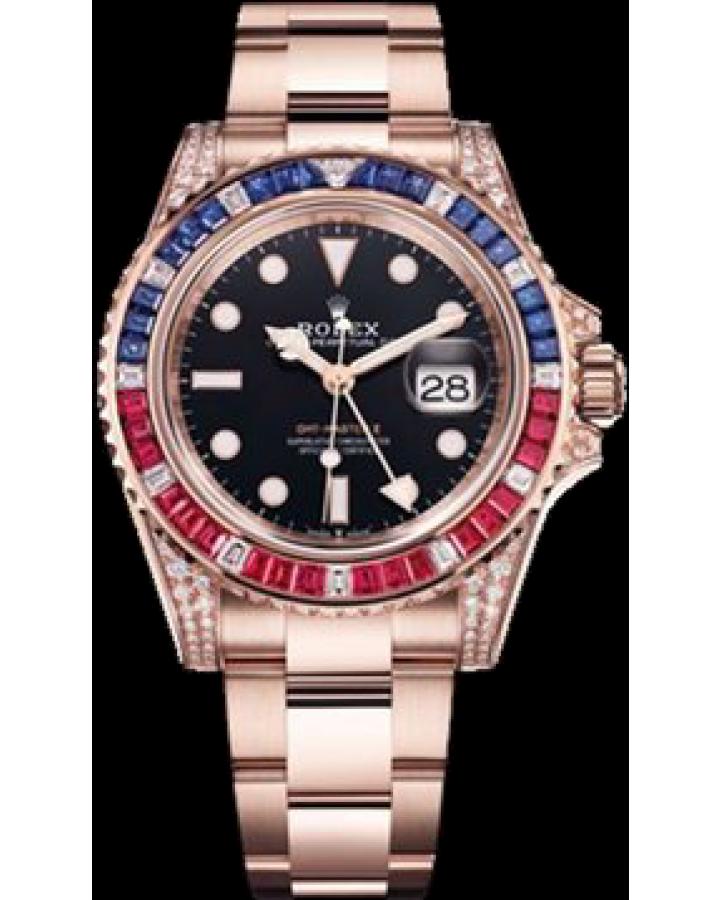 Часы Rolex GMT Master II 40mm Everose Gold 126755SARU