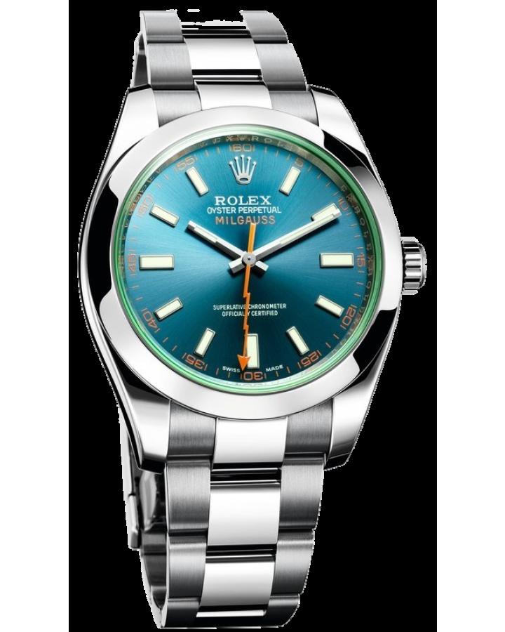 Часы Rolex Milgauss 40mm Steel 116400GV bl