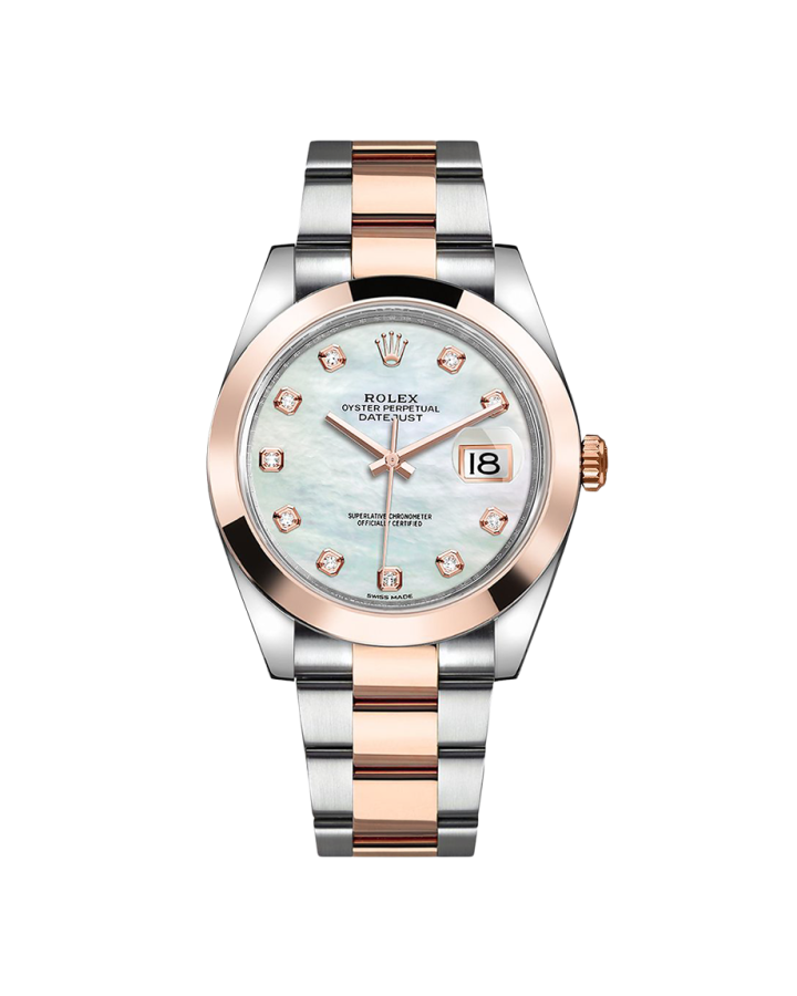 Часы Rolex Datejust Steel and Rose Gold White MOP Diamond Dial 41 мм