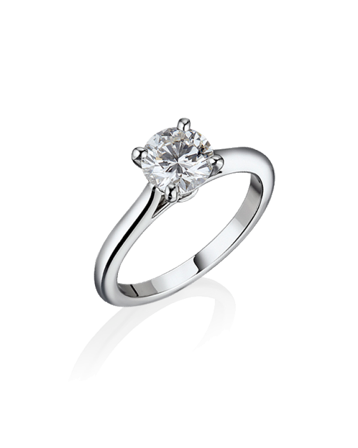 Кольцо No name из платины с бриллиантом 0 56 ct. E/SI1 GIA