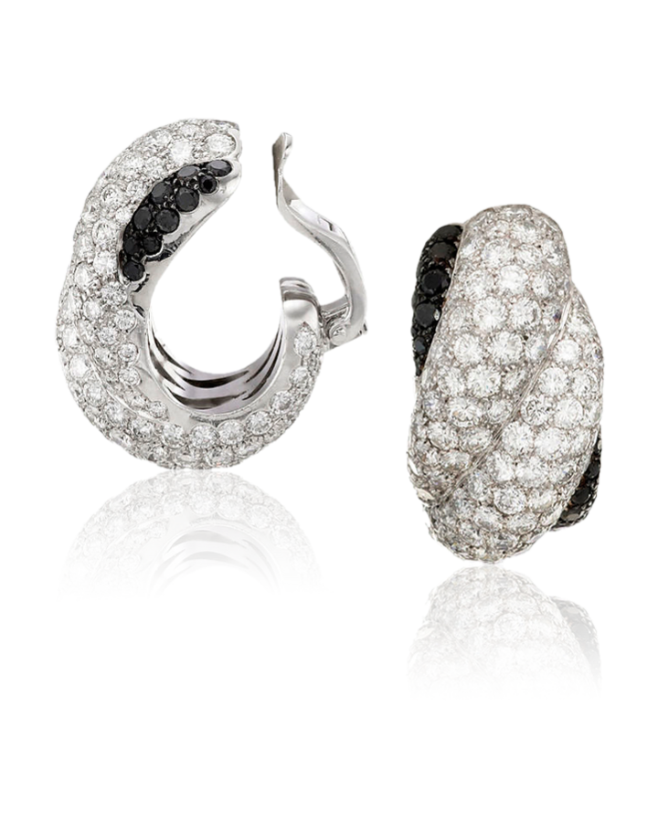 Серьги Chopard HAPPY DIAMONDS 18K WHITE GOLD AND DIAMONDS 844108 1001