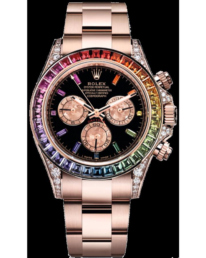 Часы Rolex Cosmograph Daytona 40mm Everose Gold Rainbow Тюнинг