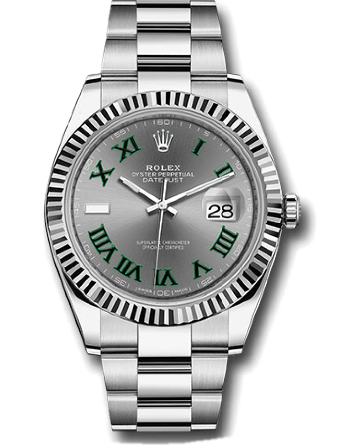 Часы Rolex DATEJUST 41 MM OYSTERSTEEL AND WHITE GOLD