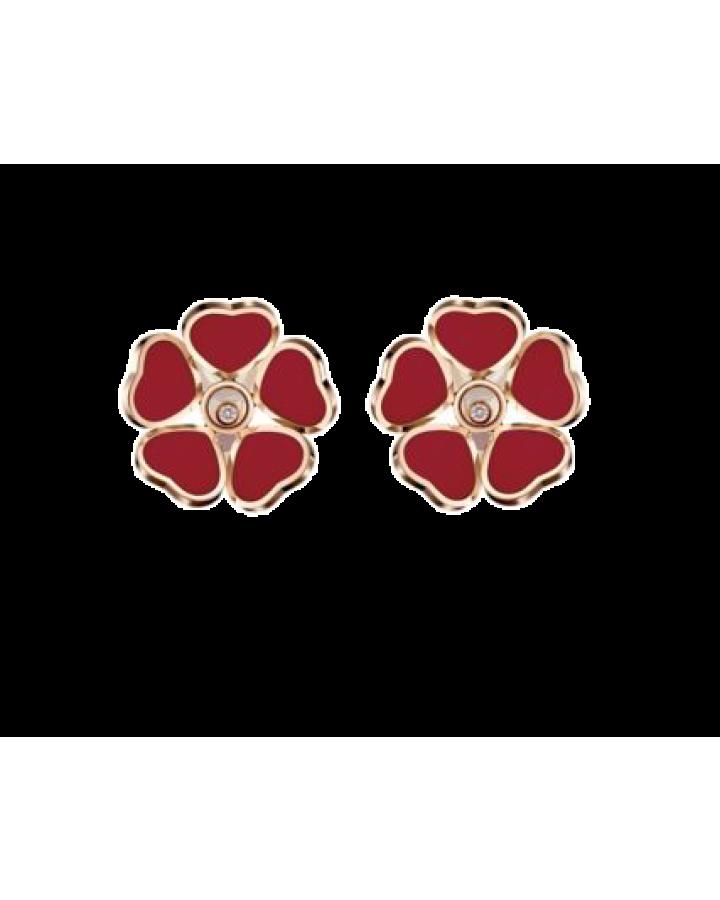 Серьги Chopard HAPPY HEARTS FLOWERS 84A085-5811