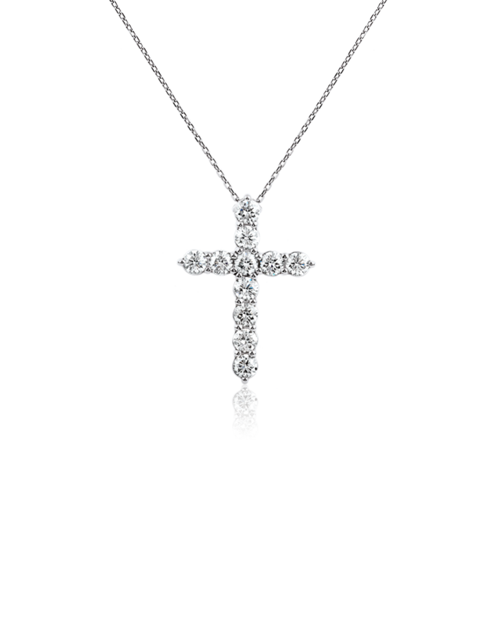 Подвеска RALFDIAMONDS  Крест с бриллиантами 2.06 карата