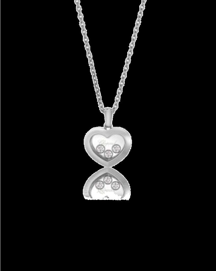 Подвеска Chopard HAPPY DIAMONDS 18K WHITE GOLD AND DIAMONDS 79A611-1001