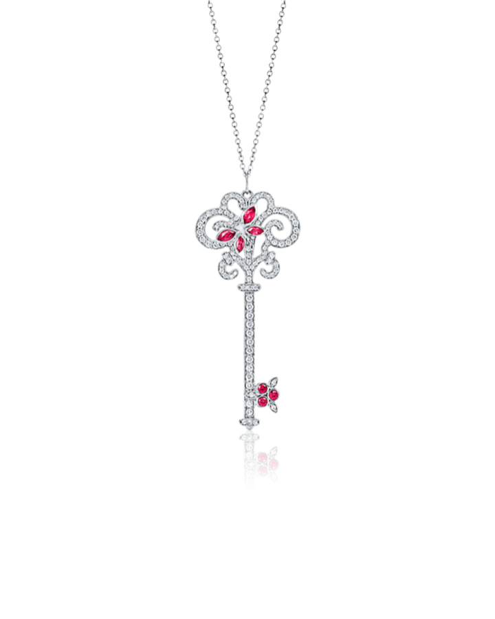 Подвеска Tiffany&Co. Tiffany Keys -ключ Enchant со стрекозой.