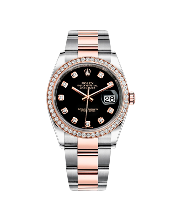 Часы Rolex OYSTER DATE JUST STEEL AND EVEROSE GOLD 36 MM тюнинг