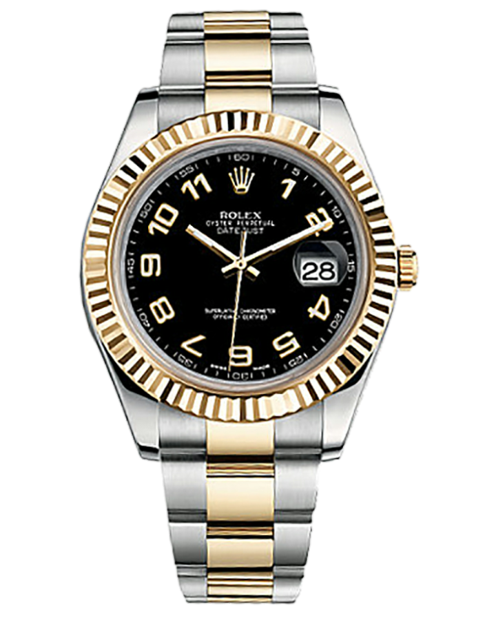 Часы Rolex Datejust II 41mm Steel and Yellow Gold 116333 Black