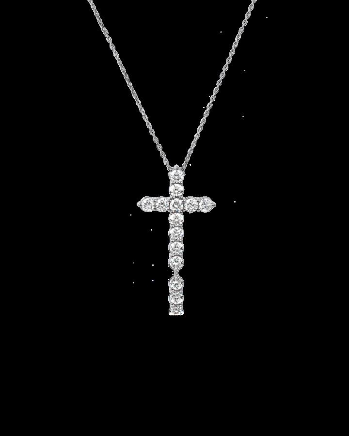 Крест RALFDIAMONDS с бриллиантами mini 0 75 CT