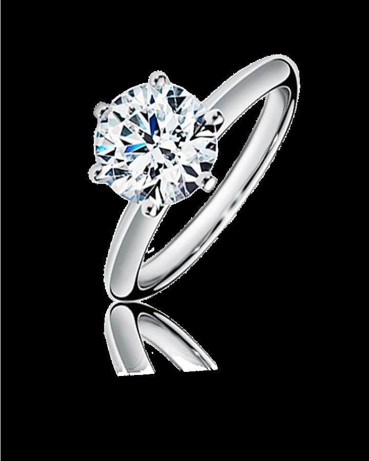 Кольцо с бриллиантом Tiffany&Co  из платины 0 95 ct G VS1 3 EXC