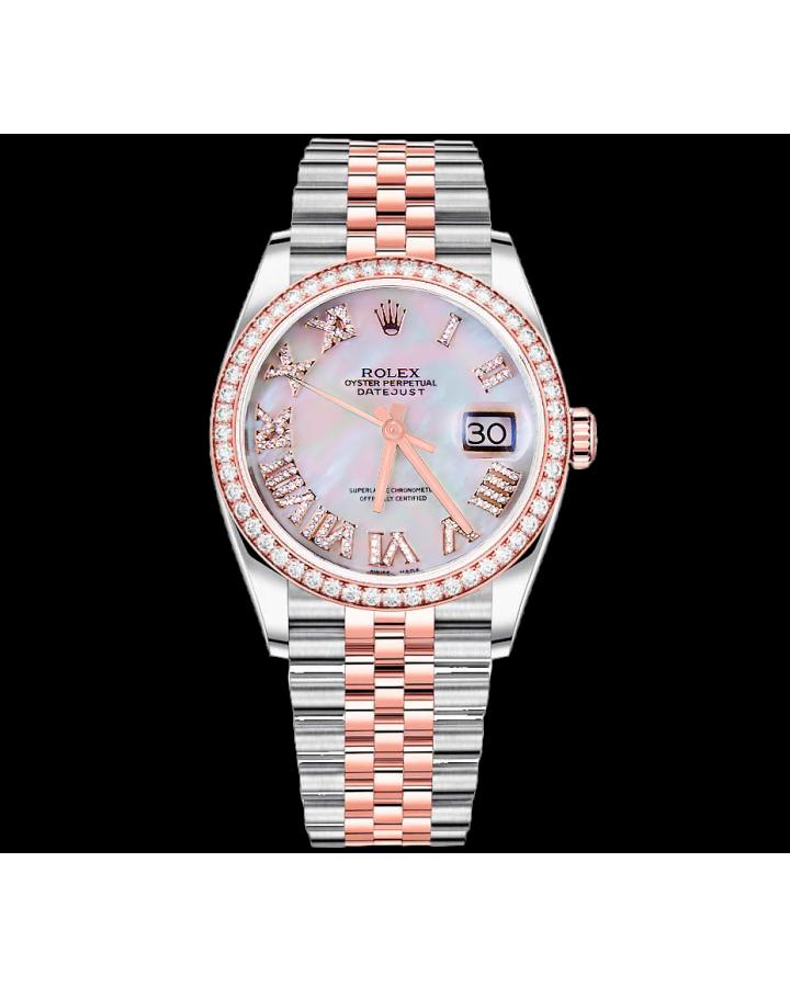 Часы Rolex DATEJUST 36MM STEEL AND EVEROSE GOLD Тюнинг