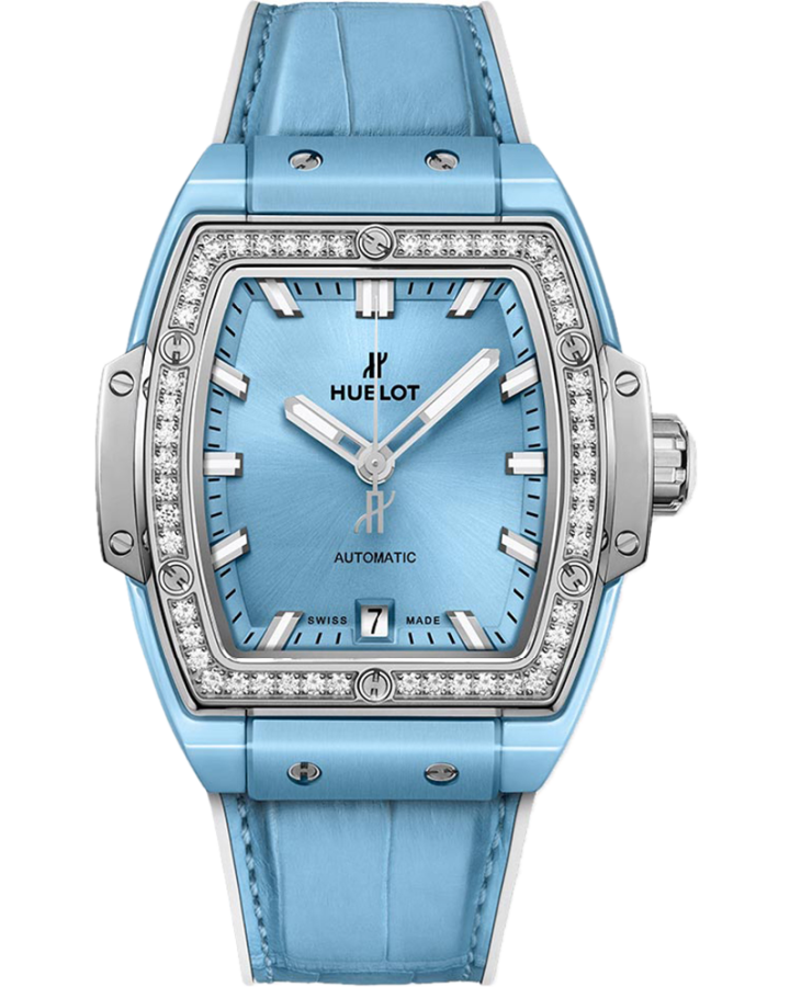 Hublot  Spirit of Big Bang Light Blue Ceramic Titanium Diamonds 39 mm