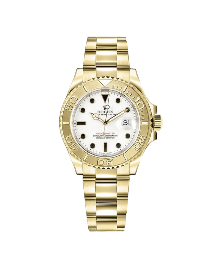 Часы Rolex Yacht Master 40mm Yellow Gold 16628 White