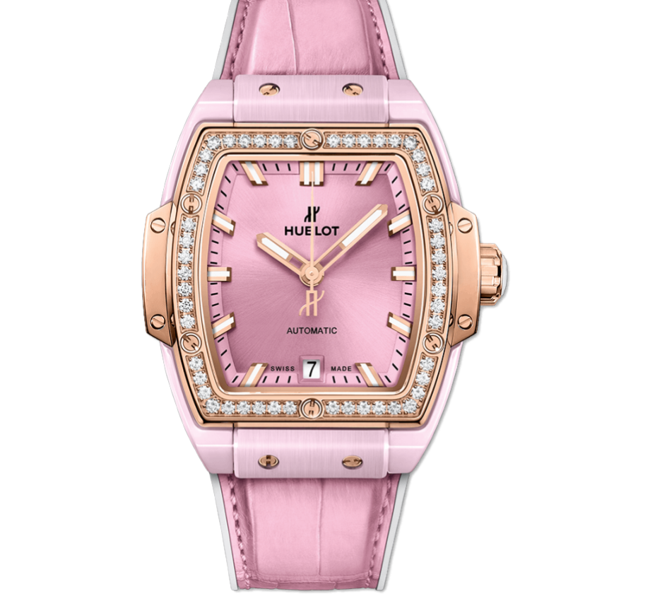 HUBLOT SPIRIT OF BIG BANG PINK CERAMIC KING GOLD DIAMONDS